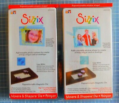 2 x Sizzix Movers & Shapers Dies - Repositionable/Magnetic. Deco Corners  NEW.