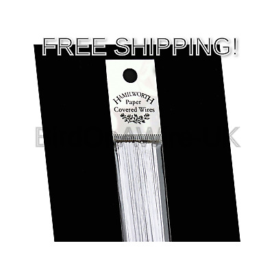Hamilworth - Paper Covered Wires - White 28 Gauge - 50 Per Pack - For Sugarcr...