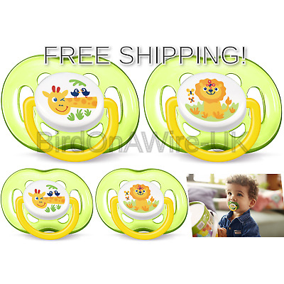 Pack of 2 Philips SCF186 23 Avent Freeflow soothers  18 Months Plus