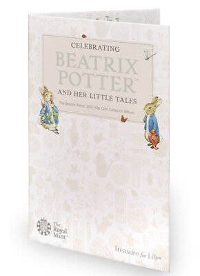 2017 Beatrix Potter & Her Little Tales 50p Coin Collector Album 2017