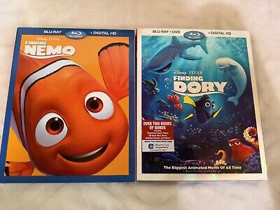 RARE Special Edition DISNEY DVD/BLU-RAY: FINDING NEMO & DORY Pixar Collection