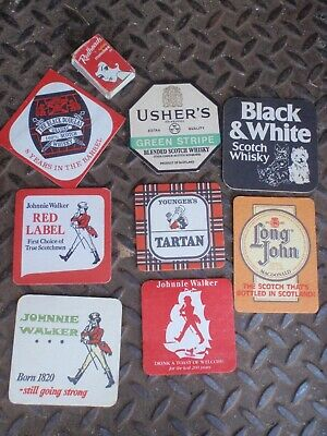 8 Scotch Whisky Coasters johnny walker