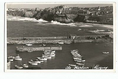 Postcard The Harbour Newquay Cornwall PM 1961 UP      (A25)
