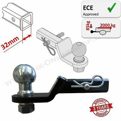 Towbar Tow Bar Tongue Ball Hitch Adapter 32x32mm | 1 and 1/4 inch USA Vehicle