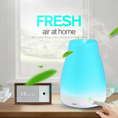Yoga Ultrasonic Aroma Aromatherapy Diffuser Air Humidifier Purifier LED Air Mist