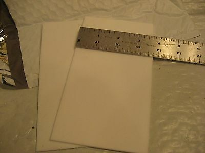 "VIRGIN TEFLON WHITE Remnant Strips 2pc.LOT approx.1/8"" X 3.750 Wide X 6.750 Long"