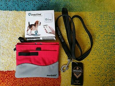 Tractive GPS Pet Tracker Lightweighted Waterproof GPS. Petsafe pouch/dingo leash
