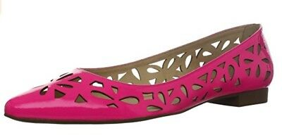 b60157a02c68 KATE SPADE NEW YORK NEW AUTH  399 Women Pink Patent Leather Effie Flat  Shoes 7.5