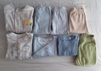 Baby Clother Used, Set Of 10 Pieces Of Clothing, 0-1 Month , Mixed Brands.