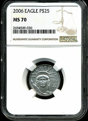 2006 P$25 Platinum 1/4 oz American Eagle MS70 NGC 2694509-030