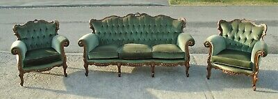 Vintage French Style Sofa & 2 Matching Armchairs    Delivery Available