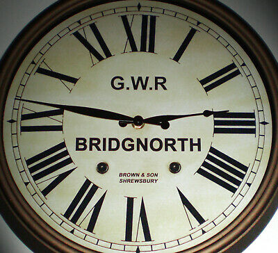 Great Western Railway GWR Victorian Style Clock, Bridgnorth Station