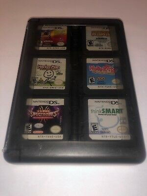 Lot of 20 Nintendo DS Games Kids Action Drawing Learning games w/ Black Case