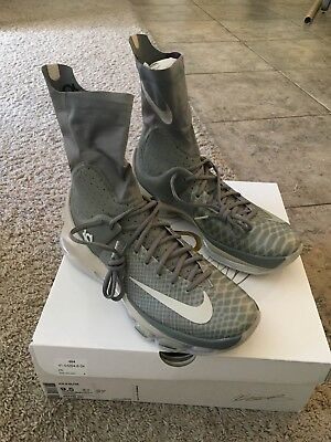42811d3d66f6 NIKE KD 8 Elite Tumbled Grey White Basketball Shoes 834185-001 Men s ...