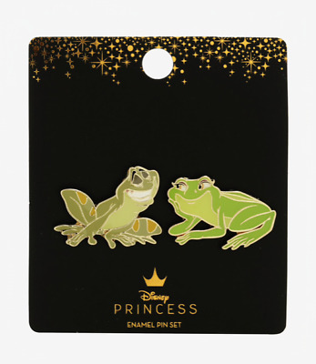 Disney Princess And The Frog 2 Pin Set Loungefly Limited Enamel Tiana Naveen