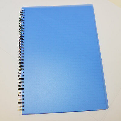 Lined - No Margin Blue Wire Bound Polypropylene FP/&P A4 Notebook 100pp 75gsm