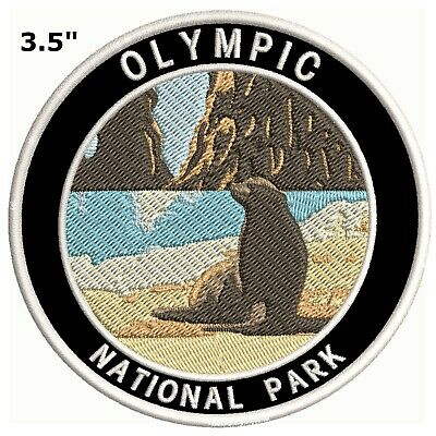 Olympic National Park Embroidered Patch Iron-On Souvenir Travel Explore Nature