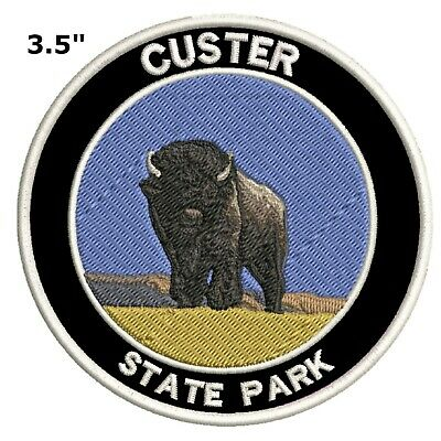 Custer State Park Embroidered Patch Iron-On Souvenir Travel Explore Nature