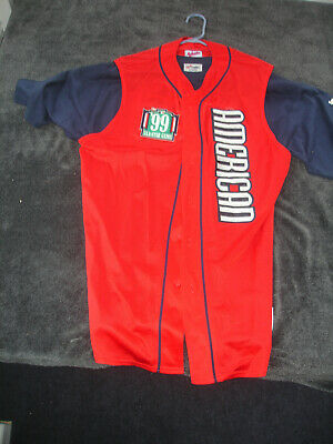 Rare 1999 MLB All Star Game Red Sleeveless Derek Jeter Jersey Boston 99 Size XL