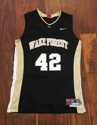 780b08d3e83 Nike Wake Forest Demon Deacons NCAA Basketball AUTHENTIC Jersey Size M + 2  Euc