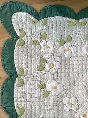 Exquisite Vintage Marie D Webster Dogwood Quilt On Page 151. A Published Pattern