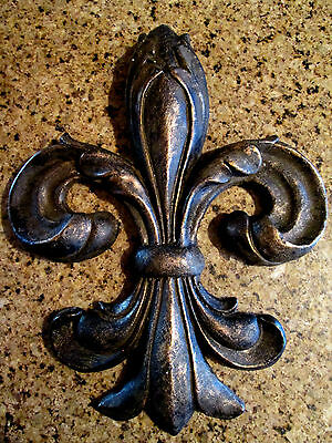 Fleur de Lis, Wall Plaque, Tuscan, Medieval, French Country, New Orleans, Saints