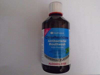 Chlorhexidine Peppermint Antiseptic Mouthwash 300ml by HealthPoint