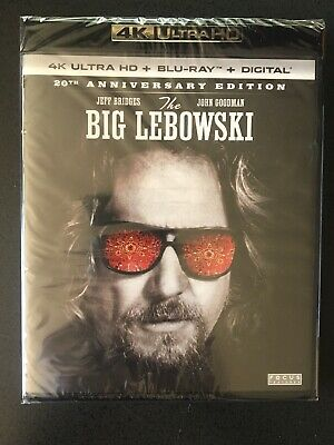 The Big Lebowski 4K Ultra HD, Blu-ray, Digital BRAND NEW 4K UHD 20th Anniversary