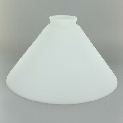 """6 1/2"""" ~ OPAL Glass ~ Hanging Pendent Lamp ~ CONE SHADE  ~ 2 1/4"""" Fitter"""