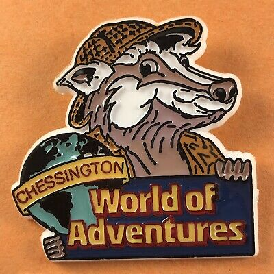 Chessington World Of Adventures Theme Park Plastic Pin Badge - Merlin