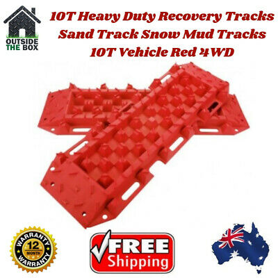 10t Heavy Duty Sand Tracks Recovery Mud Snow Track Off Road Pair Red Ton Bull