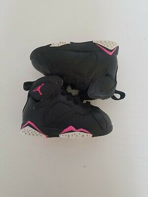 best website 62a97 1fa77 Nike Air Jordan Retro 7 toddler girls size 4c black hyper pink 705418-018