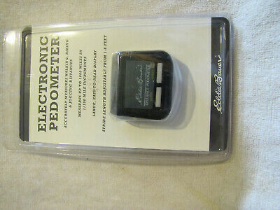 NEW  Eddie Bauer Electronic Pedometer & Fitness Monitor Walking Exercise Jog