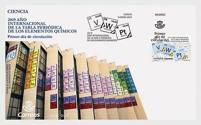 H01 Spain 2019  International Year of the Periodic Table FDC