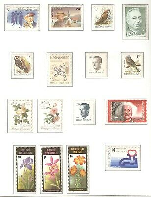Belgium, Nice page(s) of stamps issued in 1987 - 1990 in MNH condition