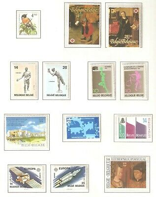 Belgium, Nice page(s) of stamps issued in 1990 - 1991 in MNH condition