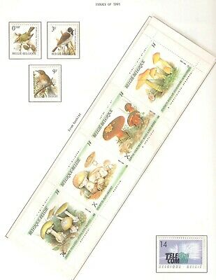 Belgium, Nice page(s) of stamps issued in 1991 in MNH condition