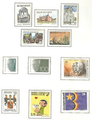 Belgium, Nice page(s) of stamps issued in 1992 in MNH condition