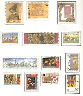 Belgium, Nice page(s) of stamps issued in 1993 in MNH condition