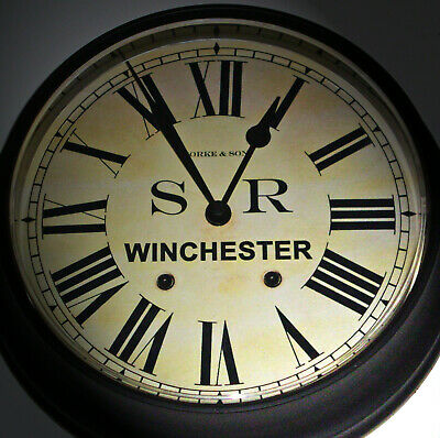 Southern Railway Style SR Waiting Room Clock, Winchester Station