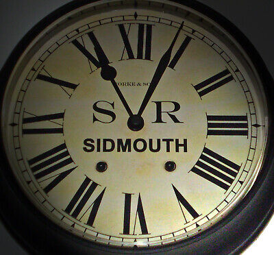 Southern Railway Style SR Waiting Room Clock, Sidmouth Station
