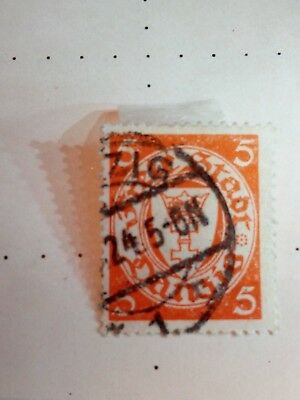 danzig stamps 1924 -1933 Coat of Arms19. January WM:3Perforation:14