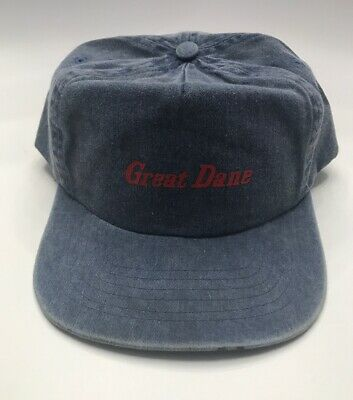 Vintage Early 1980s Great Dane Snapback Patch Denim Hat Trucker