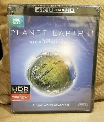Planet Earth II- 4K Ultra HD Blu-ray 3-Disc Set, HDR, BRAND NEW, FACTORY SEALED!