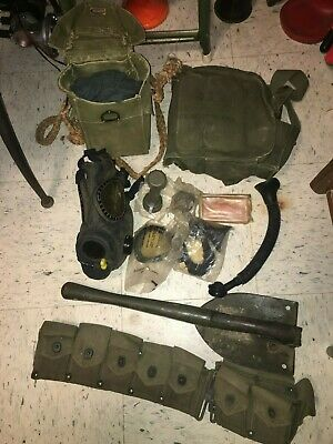 Set of Vintage WWII 1945 US Military Utility Cartridge Ammo Belt & Hammock