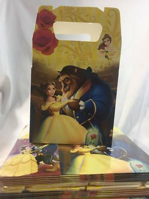 Disney  Beauty and the Beast Party Favor Treat Box *10Ct* Loot Goody Candy Box