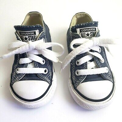 17f4da3c607fdd Converse All Star Canvas Low Top Lace Up Blue Size 5 Kids Baby Toddler Shoes