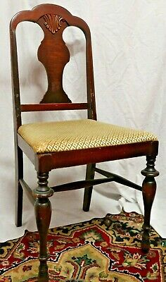 Antique Dining Chair With Cushion Furniture Victorian Vintage Wood Local Pick Up