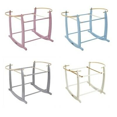 Clair De Lune Pink Blue Grey White Deluxe Rocking Stand For Moses Baskets New