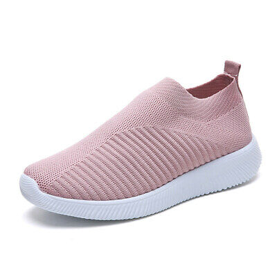 Womens Mesh Sports Shoes Breathable Casual Athletic Sneakers Fitness Trainers